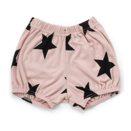 NUNUNU PINK STAR YOGA SHORTS - KIDS CURATED APPAREL