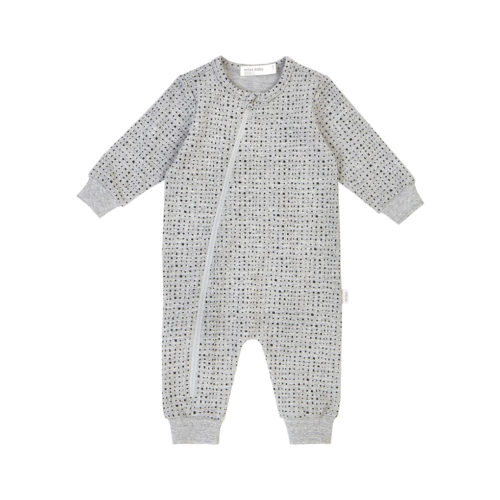 MILES BABY HEATHER GREY SPLASHED PLAYSUIT - KIDS CURATED APPAREL