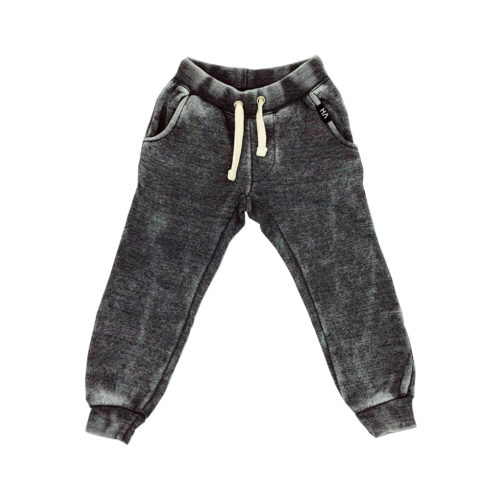 VINTAGE HAVANA STEEL GREY BURNOUT JOGGER SWEATPANTS - KIDS CURATED APPAREL