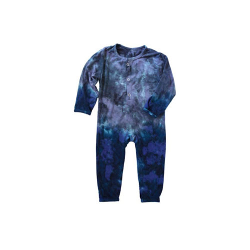 LITTLE MOON SOCIETY COBALT ANDERSON ONESIE - KIDS CURATED APPAREL