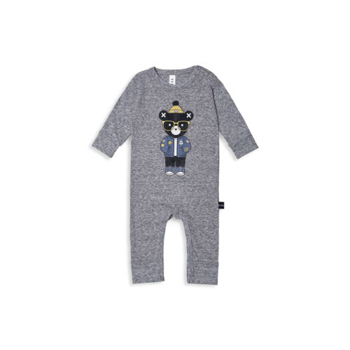 HUXBABY CHARCOAL ROMPER - KIDS CURATED APPAREL