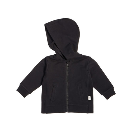 MILES BABY BLACK ZIP UP HOODIE -KIDS CURATED APPAREL