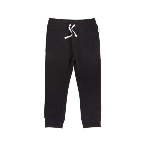 MILES BABY BLACK JOGGERS - KIDS CURATED APPAREL