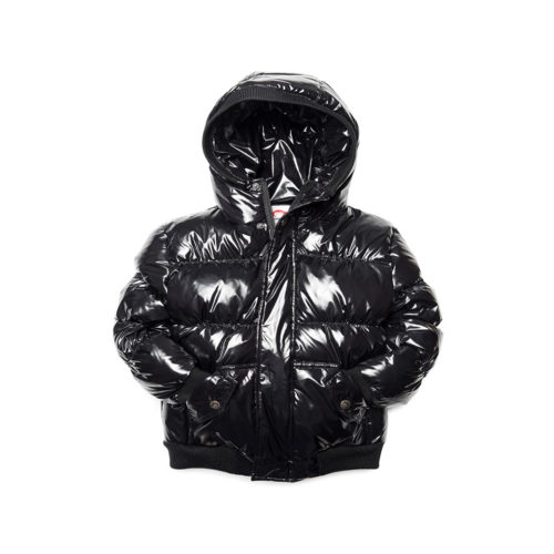 APPAMAN SHINY BLACK PUFFER COAT- KIDS CURATED APPAREL