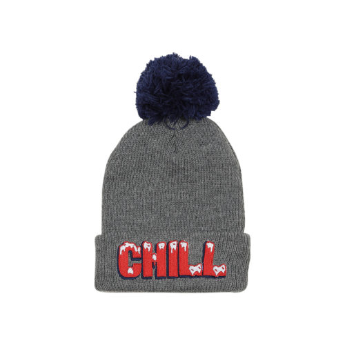 TINY WHALES CHILL POM POM BEANIE - KIDS CURATED APPAREL