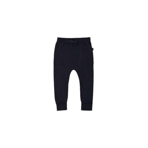HUXBABY BLACK PATCH POCKET PANTS - KIDS CURATED APPAREL