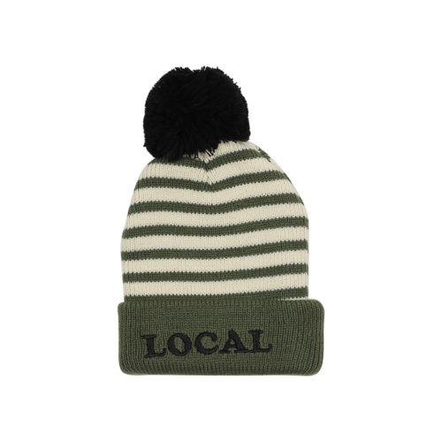 TINY WHALES LOCAL POM POM BEANIE - KIDS CURATED APPAREL
