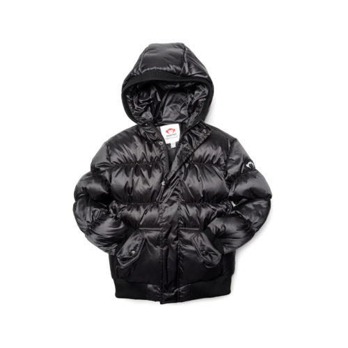 APPAMAN BLACK PUFFY COAT - KIDS CURATED APPAREL