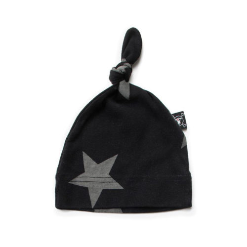 NUNUNU BLACK STAR HAT - KIDS CURATED APPAREL