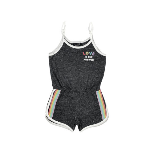 TINY WHALES LOVE IS THE ANSWER ROMPER - KIDS CURATED APPAREL
