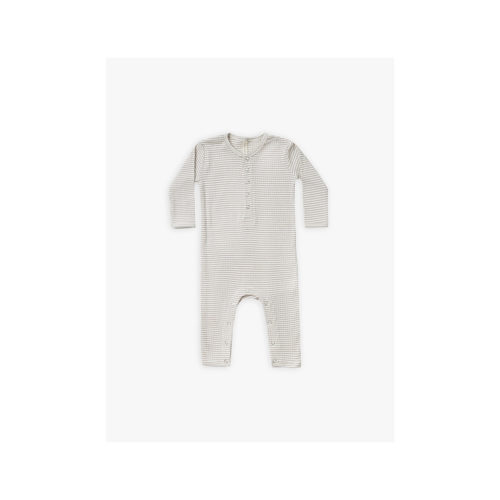 QUINCY MAE FOG STRIPE RIBBED BABY JUMPSUIT - KIDS CURATED APPAREL