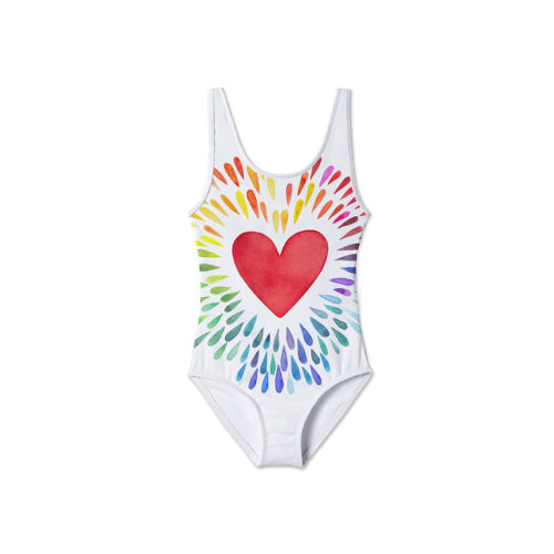 STELLA COVE HAPPY HEART TANK SWIMSUIT -KIDS CURATED APPAREL