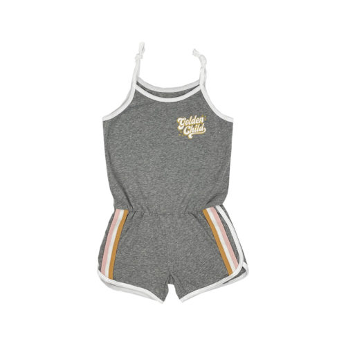TINY WHALES GOLDEN CHILD ROMPER -KIDS CURATED APPAREL