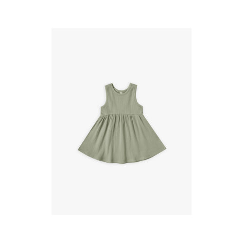 QUINCY MAE MOSS RIBBED TANK DRESS - KIDS CURATED APPAREL