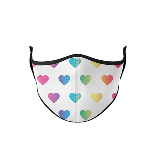 TOP TRENZ MULTI HEART MASK - KIDS CURATED APPAREL