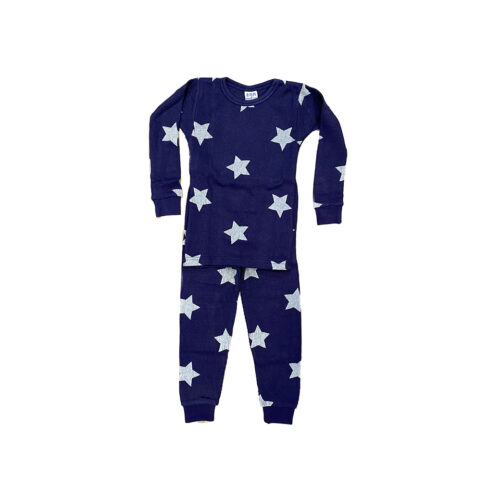 BABY STEPS NAVY STARS THERMAL PAJAMAS - KIDS CURATED APPAREL