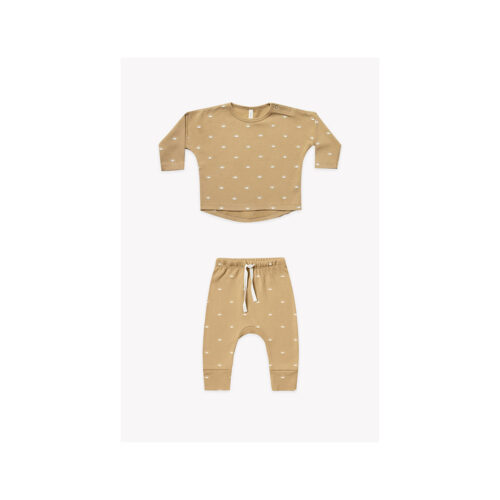 QUINCY MAE HONEY TWO PIECE SET - KIDS CURATED APPAREL