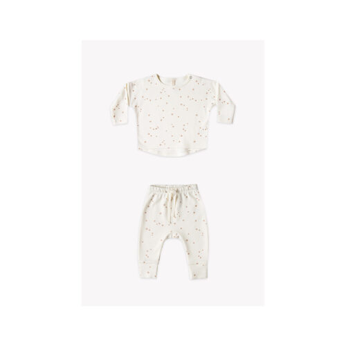 QUINCY MAE IVORY STARS TWO PIECE SET - KIDS CURATED APPAREL