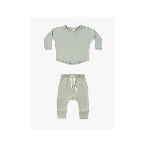QUINCY MAE SAGE SET - KIDS CURATED APPAREL