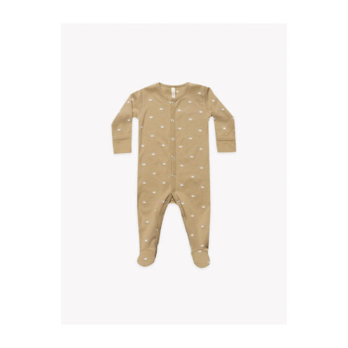QUINCY MAE HONEY FULL SNAP FOOTIE - KIDS CURATED APPAREL