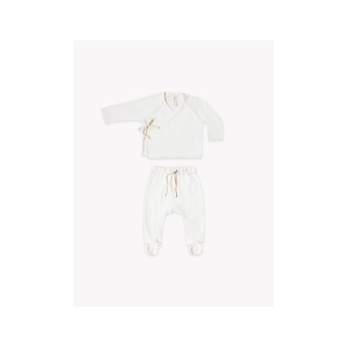 QUINCY MAE IVORY KIMONO SET - KIDS CURATED APPAREL