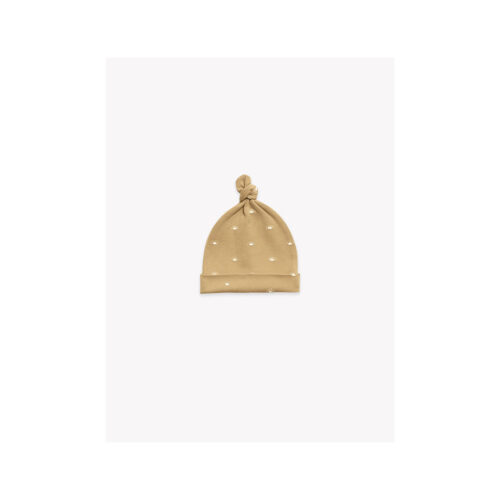 QUINCY MAE HONEY KNOTTED BABY HAT - KIDS CURATED APPAREL