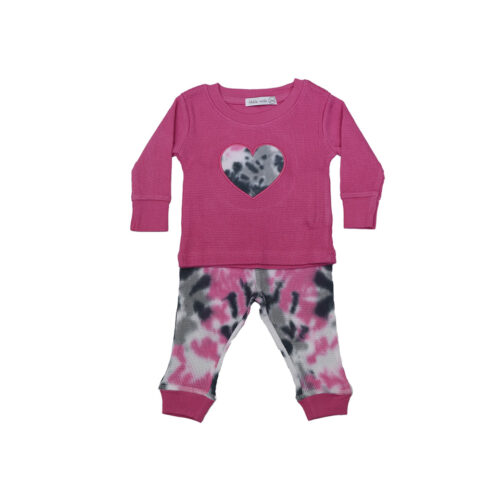 LITTLE MISH PINK TIE DYE SET- KIDS CURATED APPAREL