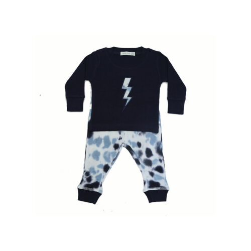 LITTLE MISH BLUE TIE DYE SET - KIDS CURATED APPAREL