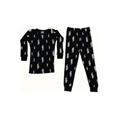 BABY STEPS LIGHTNING BOLT THERMAL PAJAMAS - KIDS CURATED APPAREL