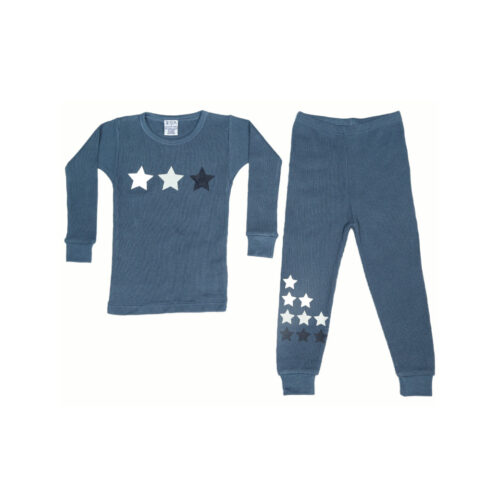 BABY STEPS DENIM THERMAL PAJAMAS - KIDS CURATED APPAREL