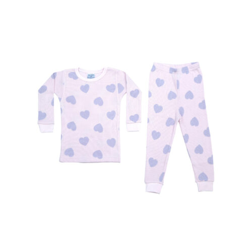 BABY STEPS PINK AND LILAC HEART PAJAMAS - KIDS CURATED APPAREL