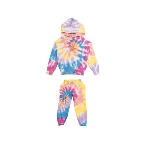 CALIFORNIAN VINTAGE SHERBET SWIRL TIE DYE SET - KIDS CURATED APPAREL