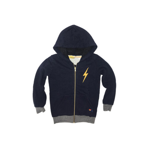 AVIATOR NATION NAVY BOLT HOODIE - KIDS CURATED APPAREL