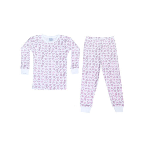 BABY STEPS LILAC FOIL KISSES PAJAMAS - KIDS CURATED APPAREL