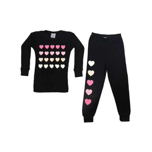 BABY STEPS MULTI HEART THERMAL PAJAMAS - KIDS CURATED APPAREL