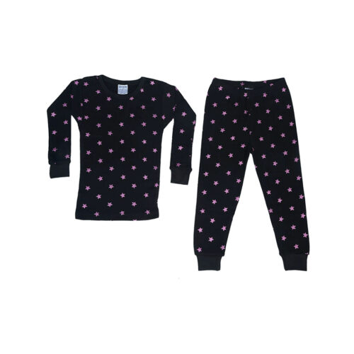 BABY STEPS BLACK FOIL STAR PAJAMAS - KIDS CURATED APPAREL