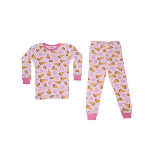BABY STEPS PINK PIZZA LOVE - KIDS CURATED APPAREL