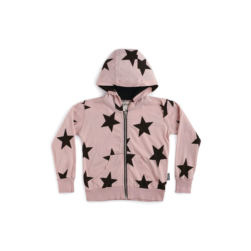 NUNUNU Boys and Girls Star Zip Hoodie  2 3 4 5 6 7 8 10 12 14