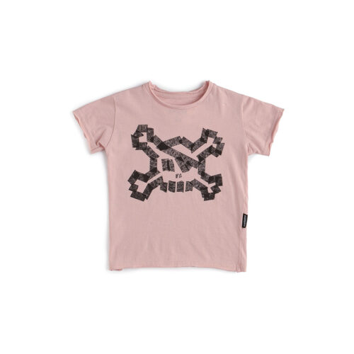 NUNUNU PINK MASKING TAPE TEE - KIDS CURATED APPAREL