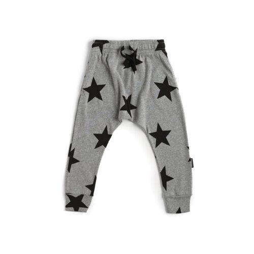 NUNUNU GREY STAR LIGHT BAGGY PANTS - KIDS CURATED APPAREL