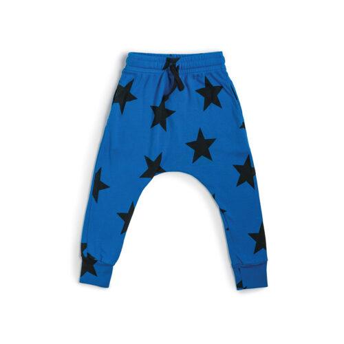 NUNUNU BLUE STAR BAGGY PANTS - KIDS CURATED APPAREL