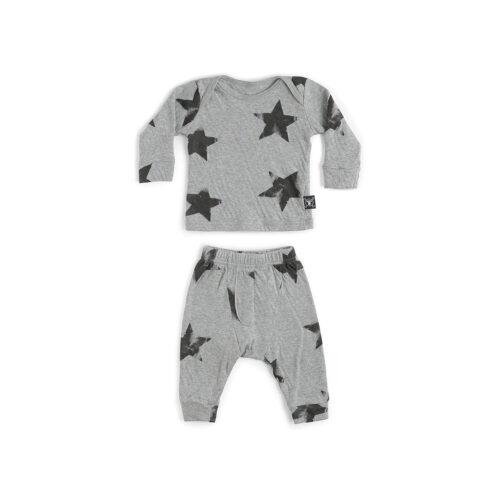 NUNUNU GREY STAR BABY SET - KIDS CURATED APPAREL