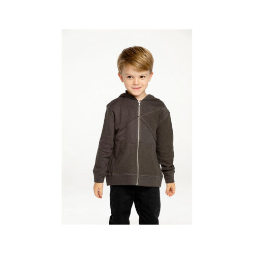 CHASER KIDS LINEN/FRENCH TERRY ZIP HOODIE - KIDS CURATED APPAREL