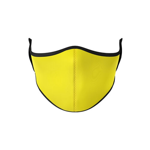 TOP TRENZ NEON YELLOW MASK - KIDS CURATED APPAREL