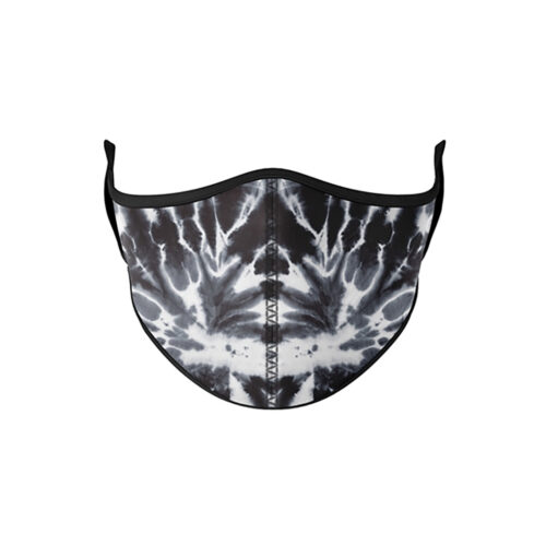 TOP TRENZ BLACK AND WHITE TIE DYE MASK - KIDS CURATED APPAREL
