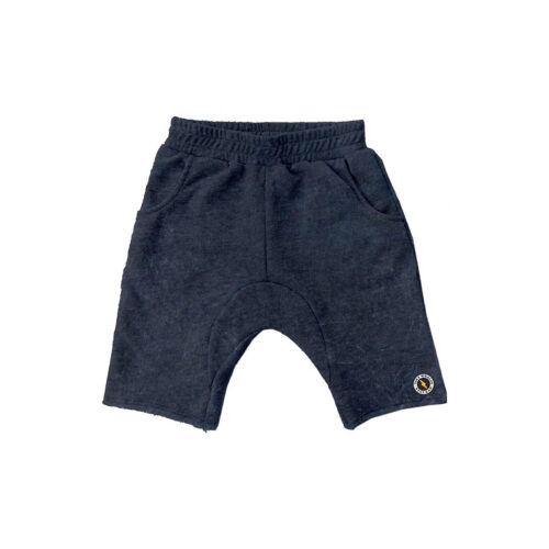 TINY WHALES ASPHALT COZY SHORTS - KIDS CURATED APPAREL