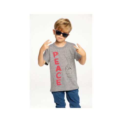 CHASER KIDS PEACE FINGERS TEE - KIDS CURATED APPAREL
