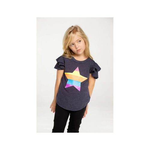 CHASER KIDS GLITTER STAR TEE - KIDS CURATED APPAREL