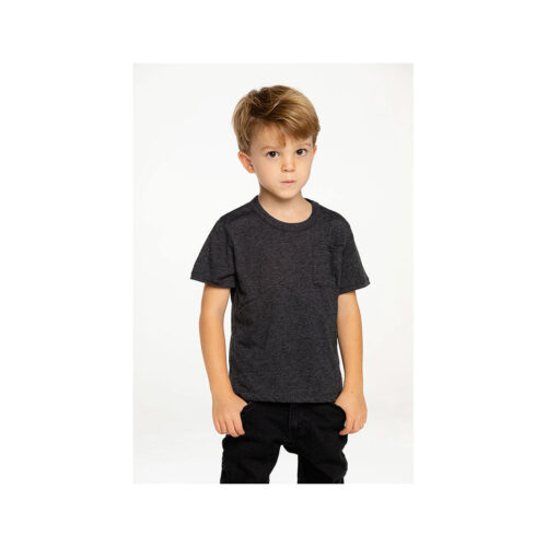 CHASER KIDS BLACK POCKET TEE - KIDS CURATED APPAREL