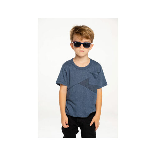 CHASER KIDS BLUE POCKET TEE - KIDS CURATED APPAREL